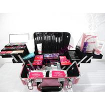 Maleta Rosa Charme Profissional Maquiagem Avon Completa 99