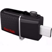 Pendrive 32gb Sandisk Celular E Pc Ultra Dual Drive Usb 3.0