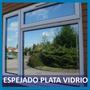 Film Polarizado Espejado Plata P/ Vidrios Y Ventanas 1/2 Mt