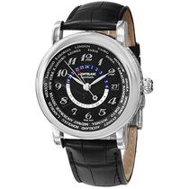 Reloj Montblanc Star World Time Black Dial Black Leather Me