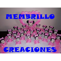 10 Souvenirs Porcelana Fria Minnie Bebe + Central +tarjetas