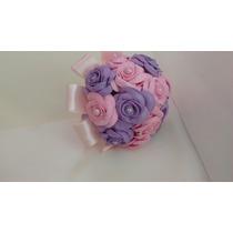 Bouque Para Daminha Com Rosas Pequenas Em Eva
