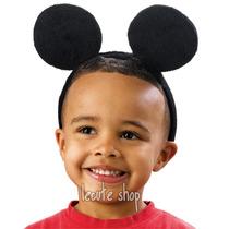 10 Diadema Mickey Raton Disfraz Orejas Mouse Minnie Fiesta