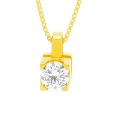 Pingente Solitário Ouro Amarelo 18k E Diamante De 15 Pontos - R  949 ... 85ac0027ea