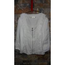 Blusa Blanca Con Mangas Casual Camisa Cierre Dama Mujer