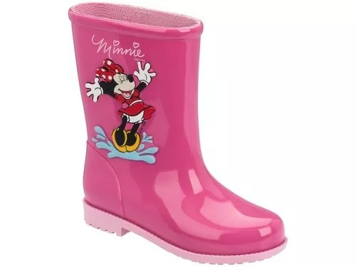 caa5fa444ed Galocha Infantil Menina Minnie Disney Grendene 21753 - R  63