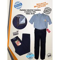Pantalón Industrial Caballero Clásico 3costura 14oz Morichal