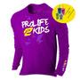 Camisa Infantil Com Proteção Uv Solar Fps 50 Blusa Criança