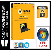 Norton Antivirus 1 Año X 1 Pc Licencias Original