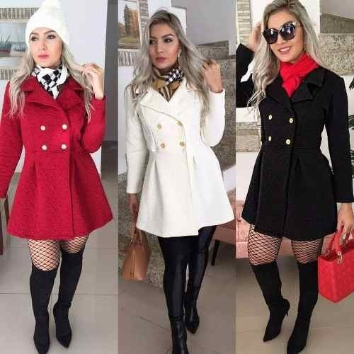 9669f3eec1 Kit Com 3 Sobretudo Casaco Jaqueta Feminina Outono inverno - R  210 ...