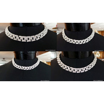 Conjunto Metal Cristales Panther Lucen Como Diamantes