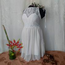 Vestido Para Dama,casual, Boda, Blanco Diseño Venezolano
