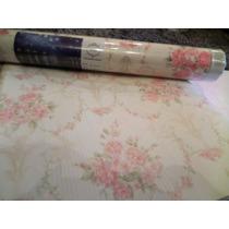 Papel De Parede Flores Rosas Importado Vinilico Ml-020301