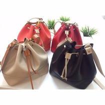 Bolsa Saco Bucket Bag Tiracolo Inspirada Arezzo Santa Lolla