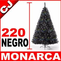 Arbol De Navidad Negro 220 Cm Monarca Envio Inmediato Pachon