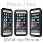 Case Metal Iphone 7 Plus Funda Extrema Para Caídas + Glass