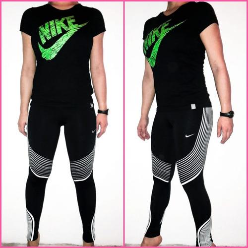 online store 63b73 fd0dc Calzas Nike De Lycra Mujer + Remera De Regalo!! -  600,00 en Mercado Libre