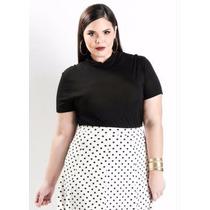 Blusa Plus Size Feminina - Roupa Festa - Pretinho Basico