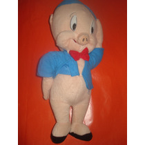 Peluche Porky Traje Azul Buen Estado Warner Bros Cartoon