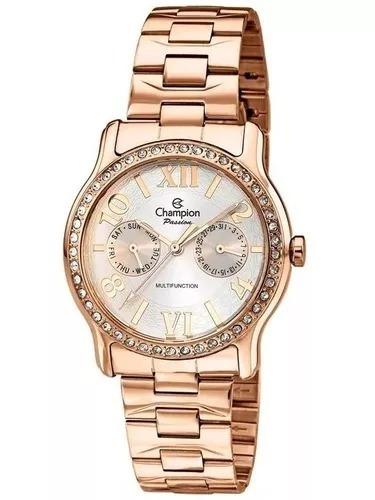 abe20228b25 Relógio Champion Passion Feminino Rose Ch38468z Original - R  239