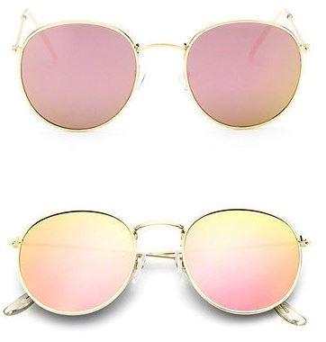 Óculos Espelhado Feminino Olho De Gato Gatinho Metal Redondo - R  35,89 em  Mercado Livre 51d593edd4