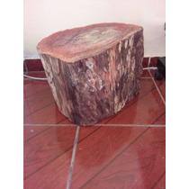 Banco Rustico,tronco De Madeira,madeira Vermelha,barato