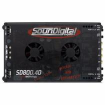 Modulo Soundigital Sd800.4d 800w Rms 4 Canais 2 Ohms