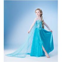 Fantasia Vestido Elsa Frozen Disney Pronta Entrega Promoção