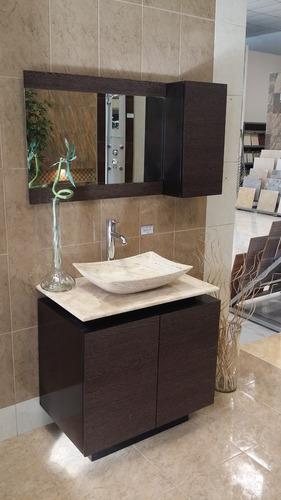 Mueble De Baño Con Lavabo De Marmol Y Espejo Mdf Bety  $ 9,64110 en