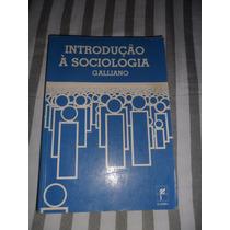 Introdução À Sociologia - Galliano