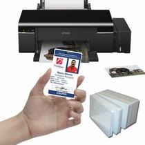 Kit De Credenciales Pvc Epson T50 L800 Hologramas Gratis