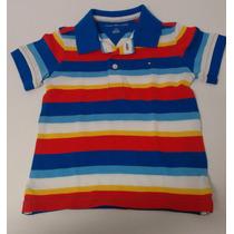 Tommy Hilfiger Camisa Polo Infantil Tamanho 2 Anos Listrada