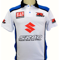 Camisetas Esportiva Masculina Gola A Polo Moto Suzuki Srad