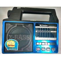 Rádio Portátil Am/fm Usb Cartão Sd Lanterna Livstar Cnn-2057