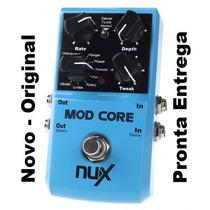 Pedal Nux Mod Core Guitarra Chorus Flanger Phaser 8 Efeitos