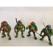Kit Com 4 Bonecos Tartarugas Ninjas Colecionaveis Tartaruga