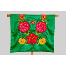 Blusa Regional De Tehuana Con Flores Tejidas A Mano (huipil)