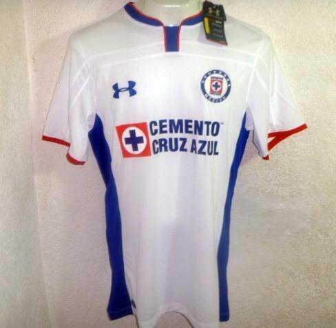 b636e8f7a Cruz Azul Mundial Clubs 2014 Talla M Jersey Playera Blanca -   550.00 en Mercado  Libre