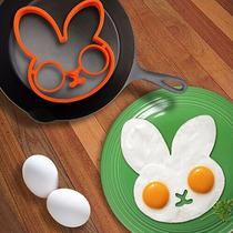 B Molde De Silicón Para Huevo: Conejo, Buho O Calavera