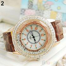 Reloj Pulsera Mujer Gogoey Estilo Aperlado Dorado 2x59 Soles