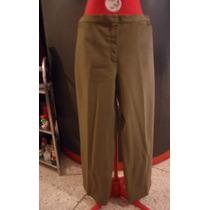 Pantalon De Vestir Verde Militar Bota Ancha Talla M