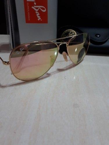Óculos De Sol Ray Ban Top Aviador Rosa Espelhado - R  249,90 em Mercado  Livre 9b6a27b22c