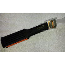 Cepillo Rucha Plancha Original Grande Color Negro-naranja