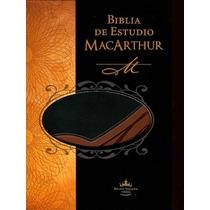 Biblia De Estudio Macarthur. Edición Piel Italiana C/ Índice
