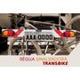 Régua Sinalização Sinalizador Transbike, Suporte Placa Bike