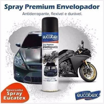 Spray Envelopamento Liquido 500ml Preto Fosco