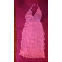 Limpia De Closet, Vestido Rosa Con Morado, Olanes, Largo