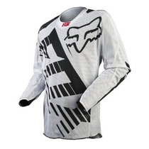 Jersey Fox 360 Savant Blanco Mesh Talla L Motocross Downhill