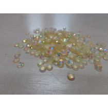 Pacote De Strass Hotfix Nude Gold Ab 4mm