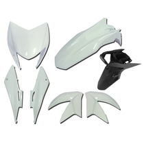 Carenagem Nxr Bross 150 Branco 2014 Kit Completo+sup Placa